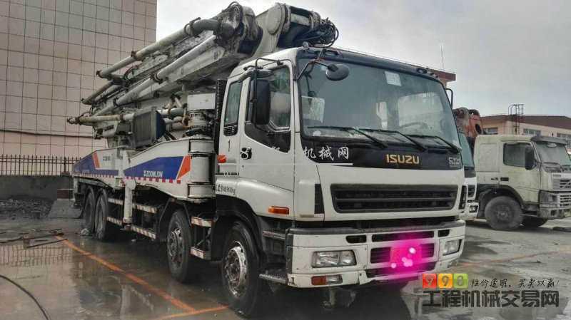 出售2011年 中联52米五十铃 臂架|泵天泵|臂架式泵车,车子干活16万方