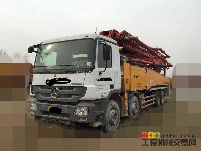 转让2012年5月出厂三一奔驰底盘52米泵车